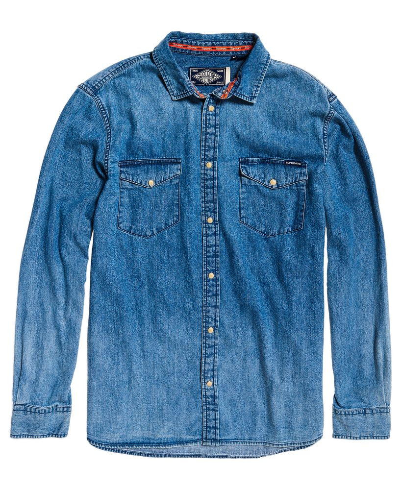 Superdry Resurrection L//S Shirt Camisa para Hombre