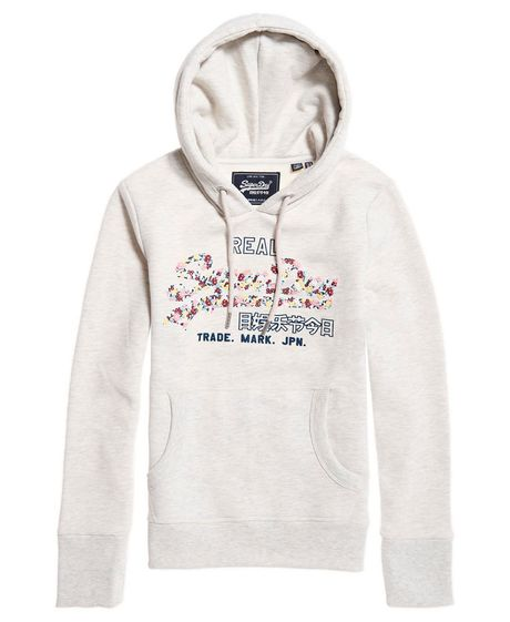 Buzo-Hoodie-Cerrado-Para-Mujer-V-Logo-Floral-Infill-Entry-Hood-Sry-Superdry