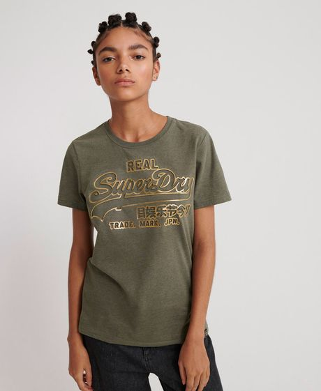 Camiseta-Para-Mujer-V-Logo-Deboss-Foil-Entry-Tee-Superdry