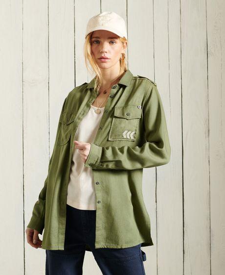 Camisa-Para-Mujer-Military-Shirt-Long-Superdry