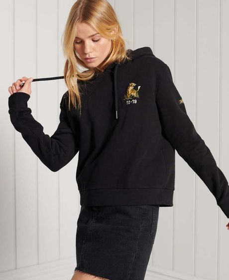 Buzo-Hoodie-Cerrado-Para-Mujer-Military-Logo-Crop-Hood-Superdry