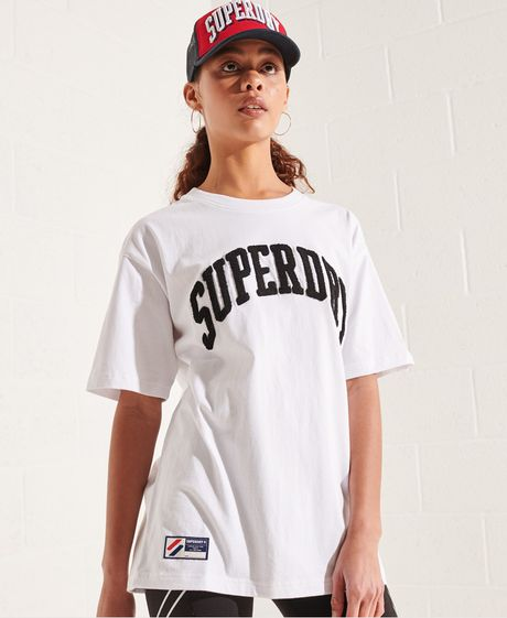 Camiseta-Para-Mujer-Varsity-Arch-Mono-Tee-Superdry