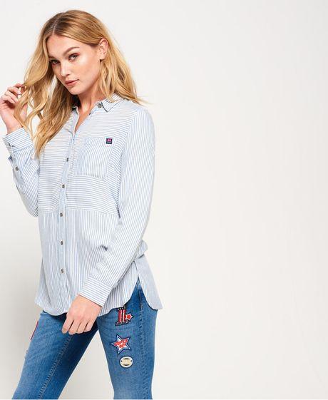 Camisa-Para-Mujer-Tatum-Stripe-Shirt-Superdry