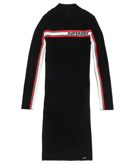 Vestido-Corto-Para-Mujer-Superdry-Logo-Knit-Dress-Superdry