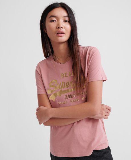 Camiseta-Para-Mujer-Vintage-Logo-Metalwork-Entry-Tee-Superdry